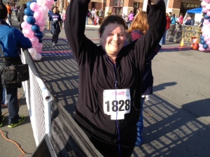 Me, after walking in my first 5K -- The Brambleton Ribbon Race -- in 2013. I'm running in the 2015 Brambelton in 9 weeks.