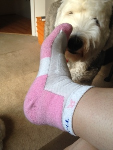 Even puppy dogs love these socks! Thorlos - the most remarkable socks ever.