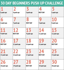 30-day push up challenge,