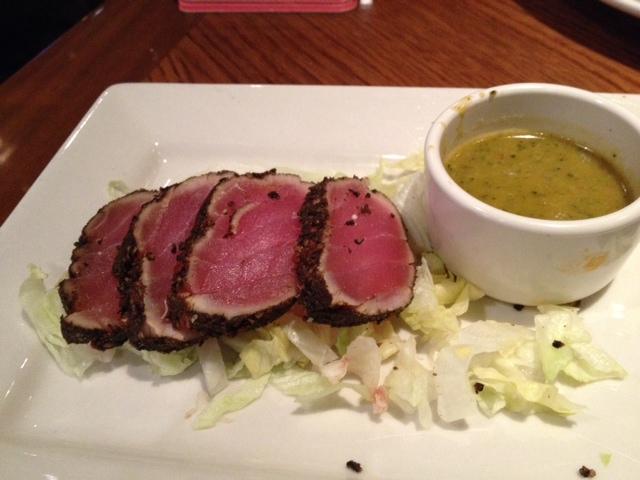 recipe: pan seared tuna with wasabi sauce [35]