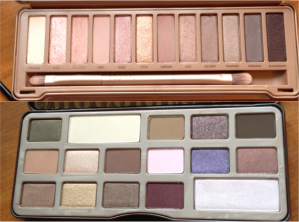 I love Urban Decay's Naked 3 (top) pink tinted neutral colors. And I can't wait to play with Too Faced's cocoa scented chocolate bar palette (bottom).