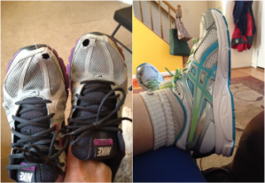 Yes, I'm retiring my old sneakers (about time!). I picked out a pair of ASICS on Zappos.com and I'm loving them.