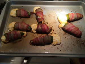 My bacon wrapped jalapeno poppers came out delicious, but I made a few boo-boos in making them. I've corrected those in the recipe.