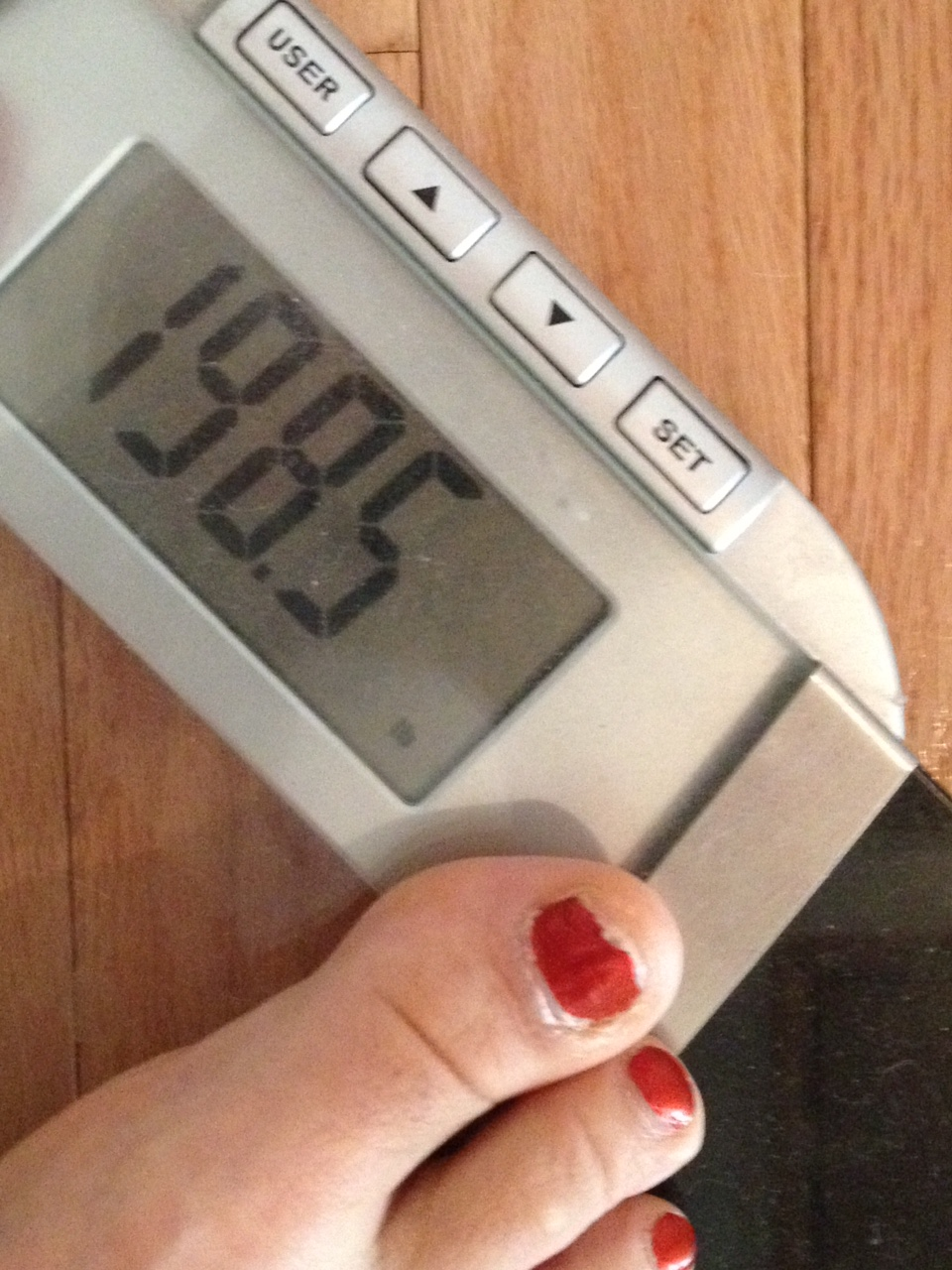 Suggests riding stationary bike for weight loss