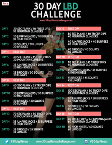 For February I'm taking on the Little Black Dress Challenge for a full body workout. To kick my butt even more, I'm doing each day's workout twice.