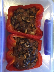 These yummy stuffed peppers are a great alternative to my typical morning fare of eggs, avocado and tomato.