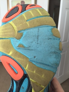 Saucony Guide 7 worn down