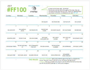 Join me for the FitFluential 100 Challenge -- 1 new exercise everyday, 100 times. Woohoo!