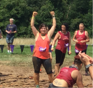 My reaction after conquering my final obstacle Mudderella threw at me!