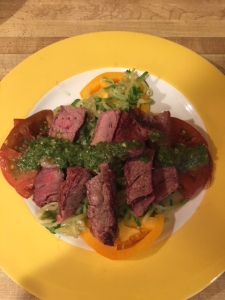 steak & zoodle salad
