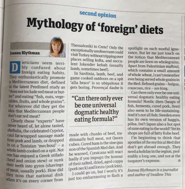Joanna Blyth article